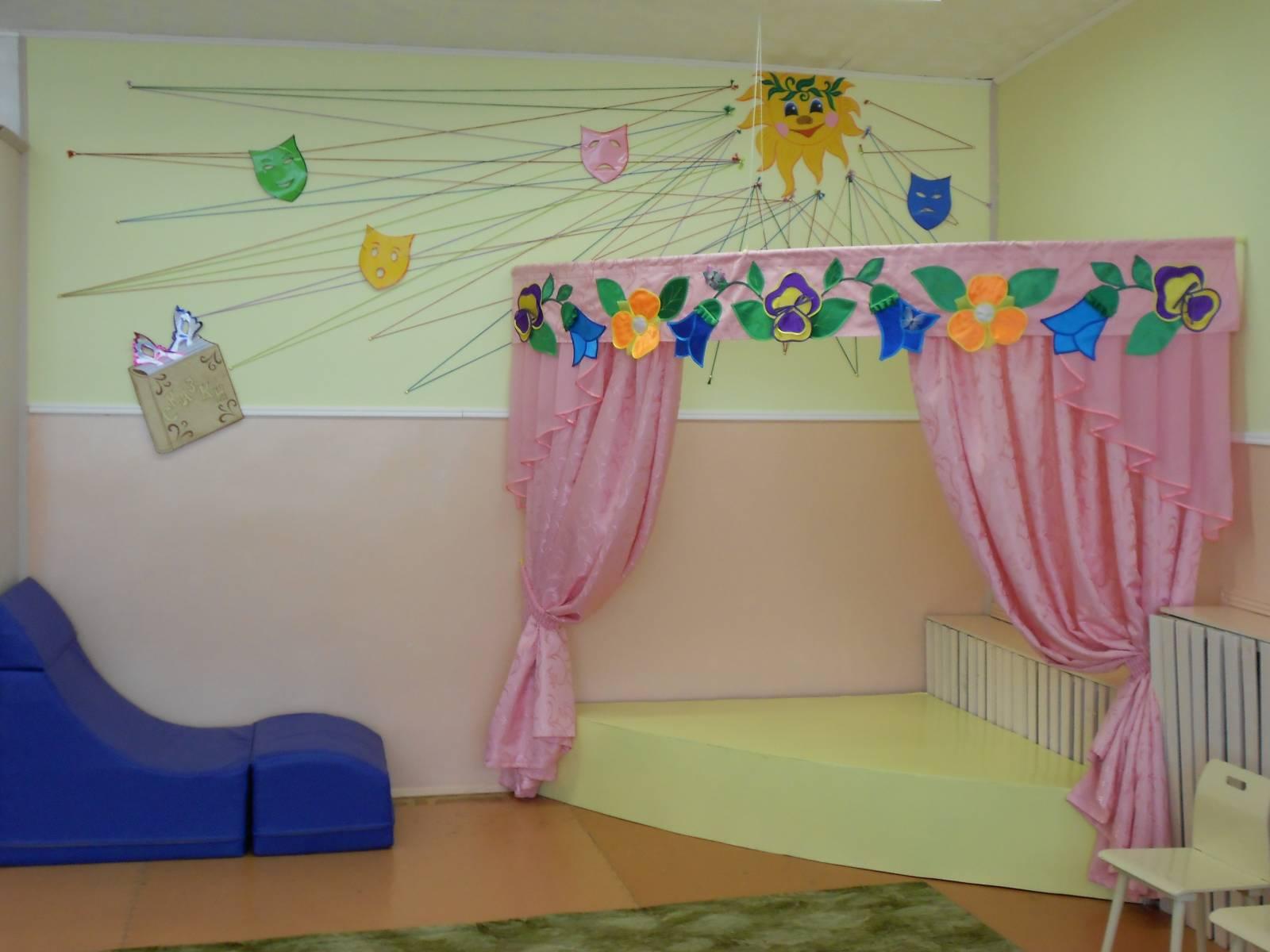 Оформление театрального уголка в детском саду своими руками фото
